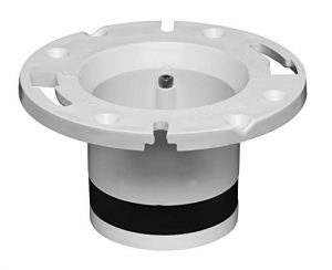 offset flange for toilet in concrete