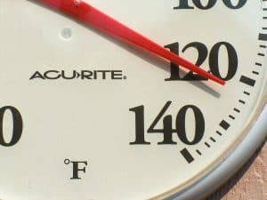 battery powered temperature indicator
